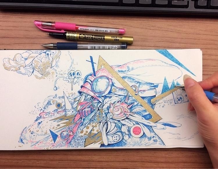 drawing, doodle, sketchbook, sketchaday - alice_lin | ello