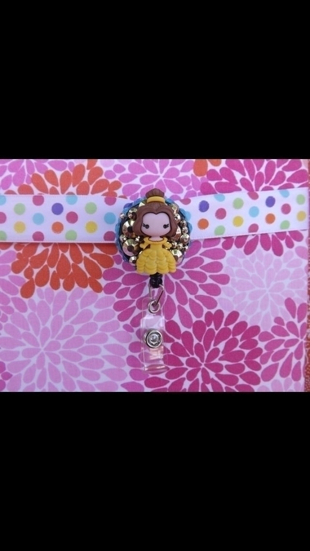Chibi belle badge holder belt c - kraftychiccreations | ello