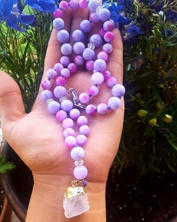 Lavender Amethyst Mala etsy pag - kays_kreationss | ello