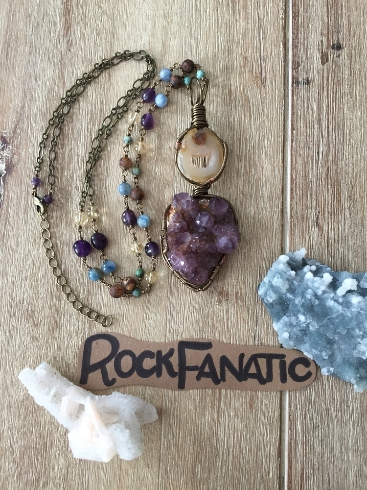 shop Long agate geode slice ame - rockfanatic | ello