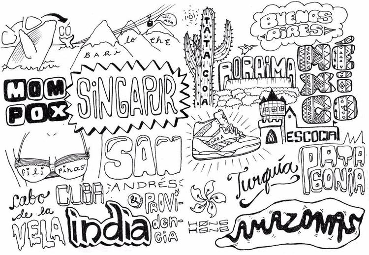 Travel doodle - latiapereques | ello