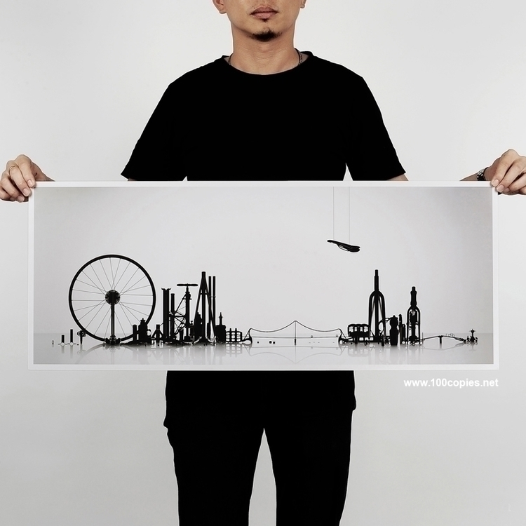 Design 11 - Cityscape live box - 100copies_bicycle_art | ello