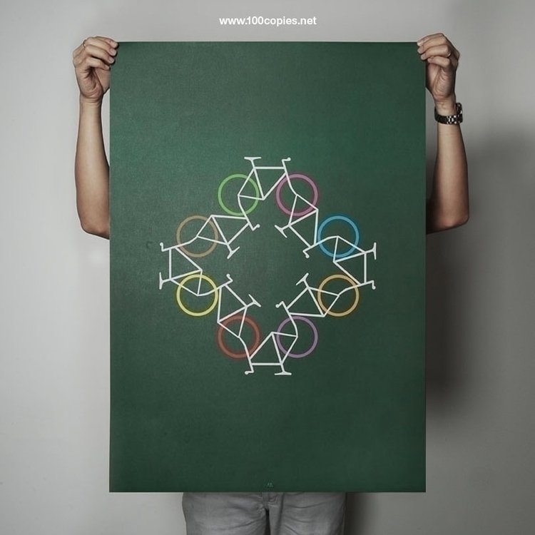 Design 02 - Recycle Sheet size - 100copies_bicycle_art | ello