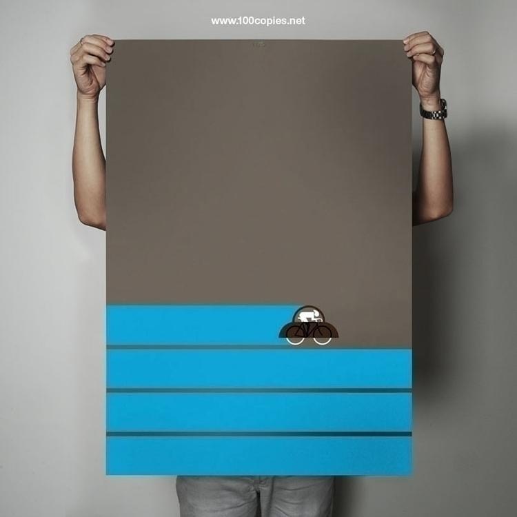 Design 03 - Sky Sheet size: A1  - 100copies_bicycle_art | ello