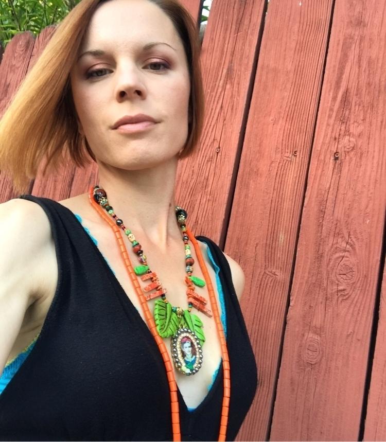 Frida Kahlo necklace... falls p - sistasjewelry | ello