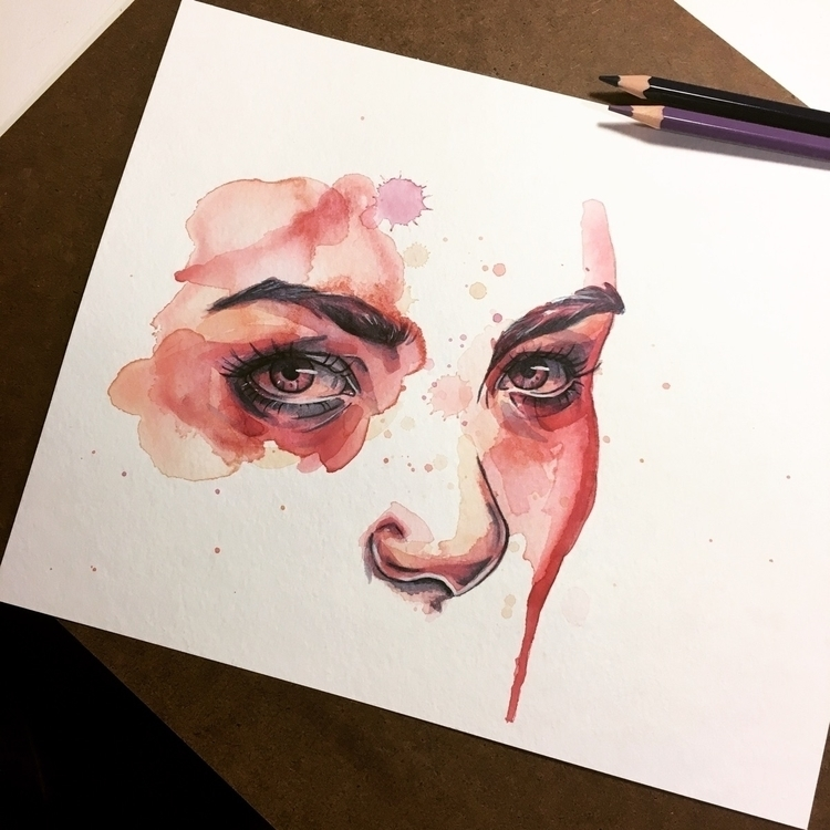close eyes - illustration, art, artwork - meganjurcak | ello