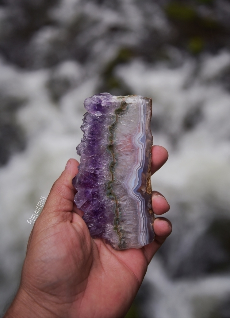 Beautiful banded Agate amethyst - theeancients | ello