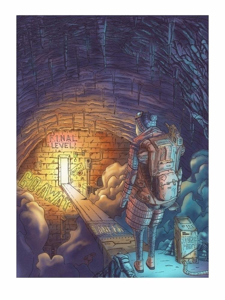 Endgame - illustration, game, woman - jferreirastudio | ello