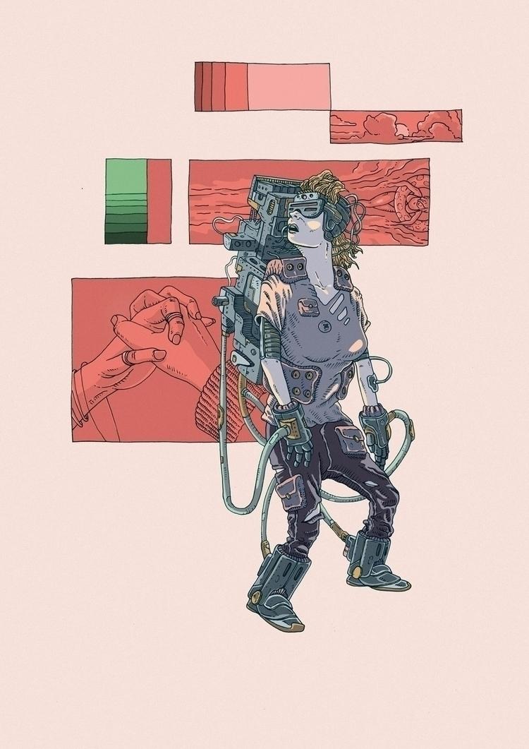 Connection Lost - illustration, woman - jferreirastudio | ello