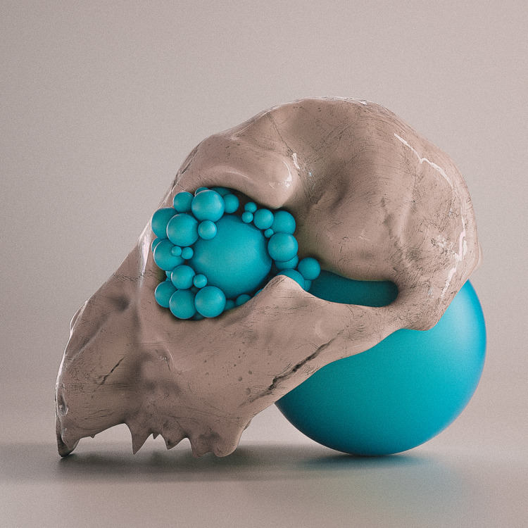 3dart, 3d, cinema4d, skull, surreal - themandesigns | ello