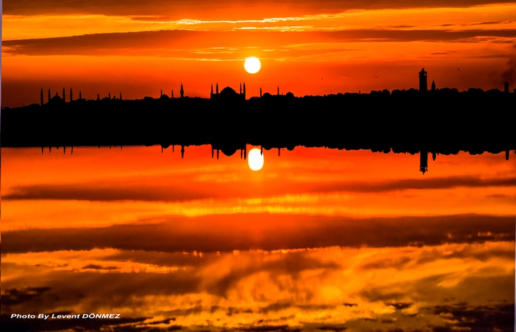 Reflections Istanbul water - city - leventdonmez | ello