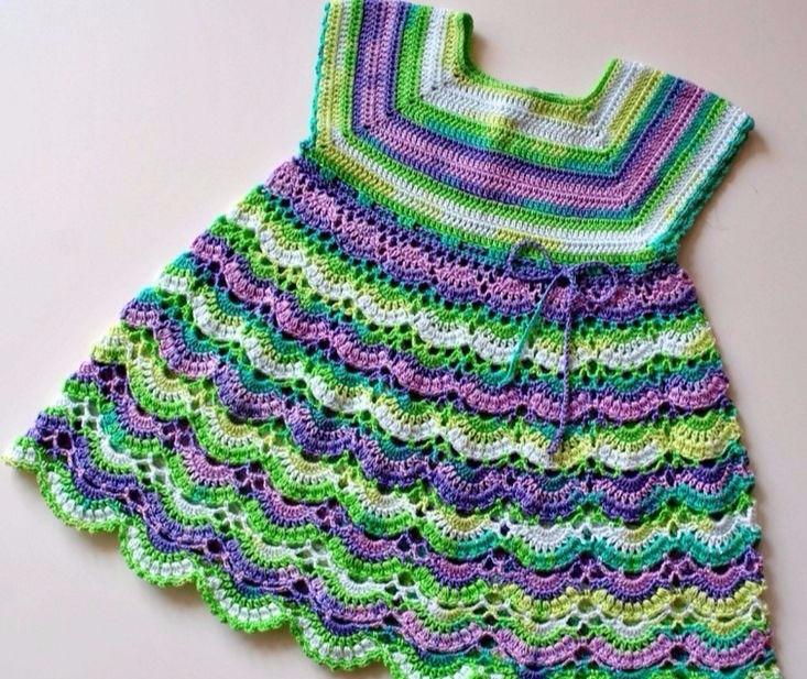 Este vestido de crochê colorido - carlabreda | ello