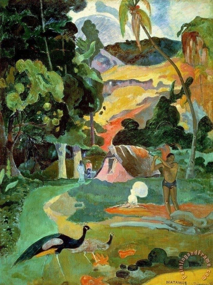 Matamoe Landscape Paul Gauguin - bitfactory | ello