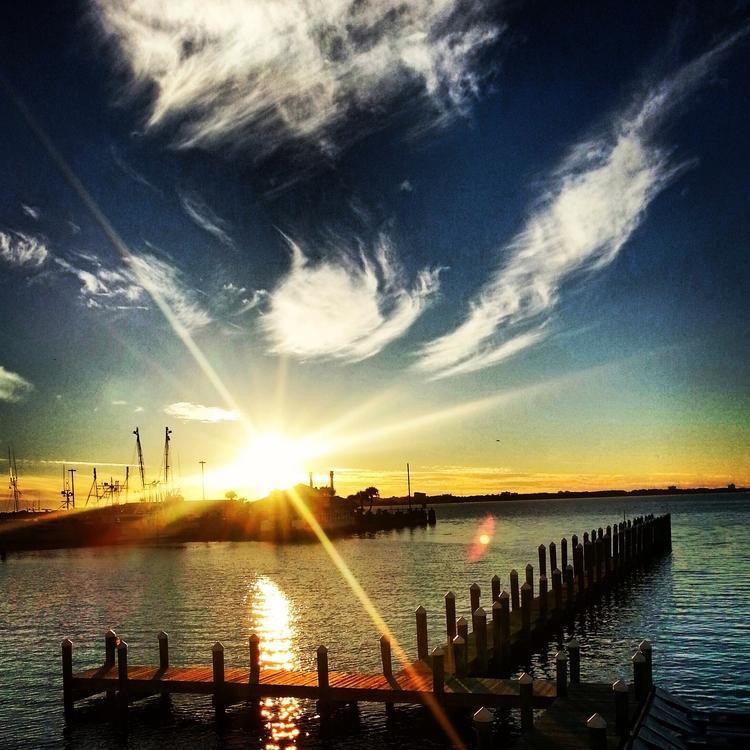 Bay sunset - bay, docks, outdoors - ryahollowayphillips | ello