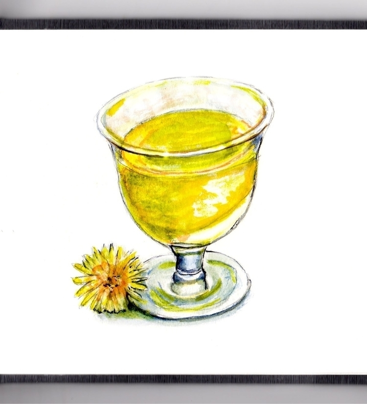 Dandelion Wine - watercolor, watercolour - doodlewash | ello