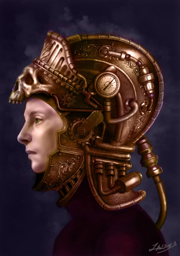 steampunk helmet - zalartworks | ello