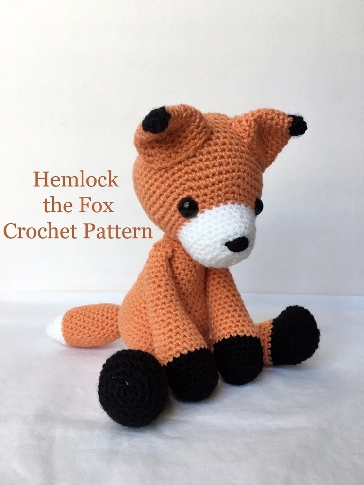 Hemlock Fox crochet pattern ets - thestitchtower | ello