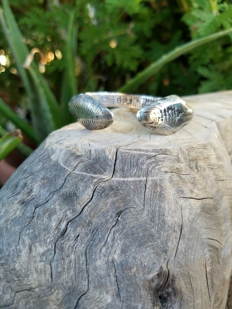 Doubled Ended Cobra Cuff create - blackpowdersilver | ello