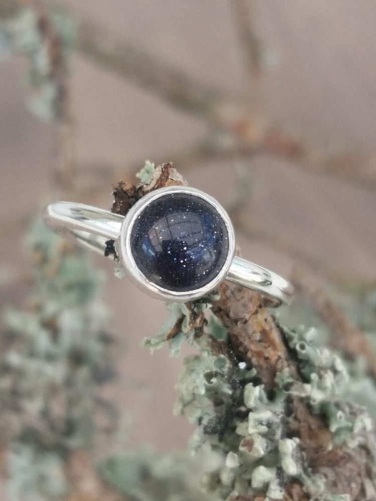 Blue sunstone:heart_eyes: galax - pretiosadesign   ello