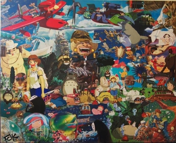 collage, myazaki, handmade - fredzy   ello