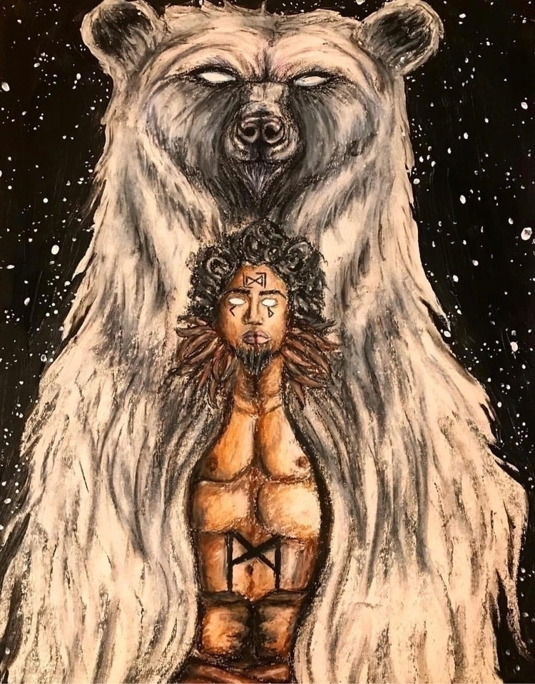 Bear spirit commission, print s - amaranthusart | ello