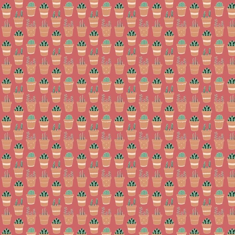 Potted succulents pattern | Han - carolinewillustration | ello