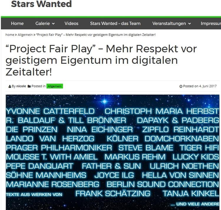 project fair play stars wanted - projectfairplay   ello