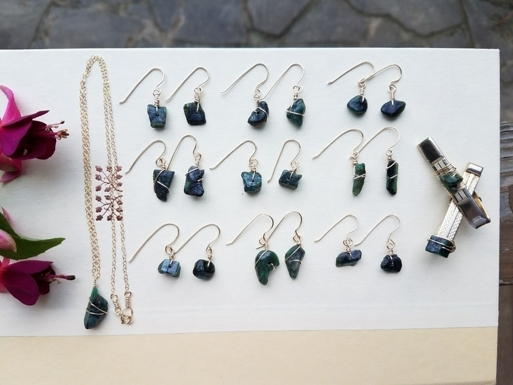 working batch Emerald Gold jewe - eclecticriverdesigns | ello