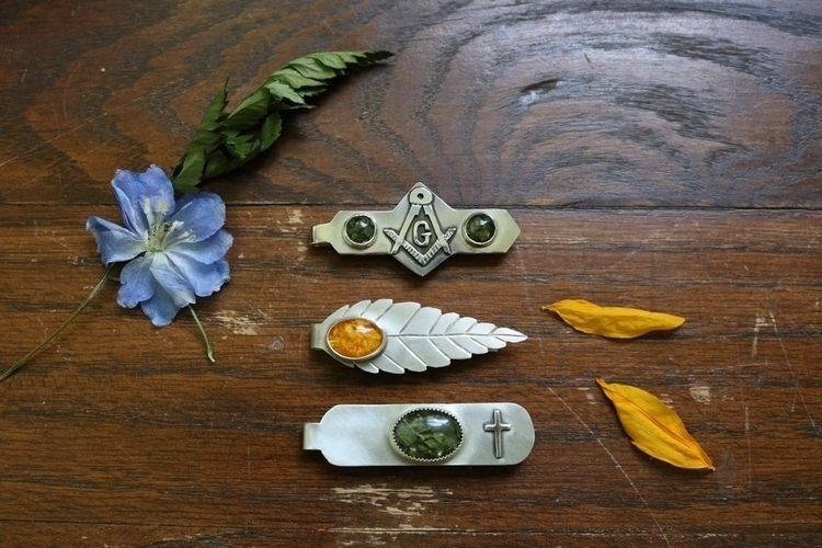 Finished tie clips memorial ser - janaprancejewelry   ello