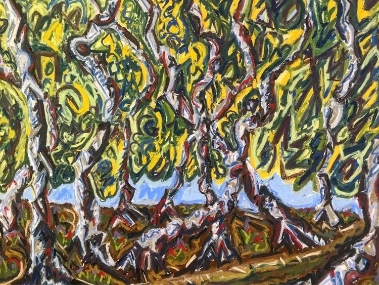 Abstract grove dancing birch tr - rostislavromanov | ello