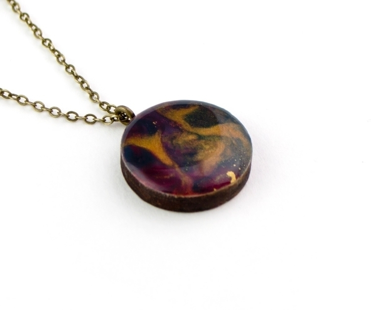 • ~ resin necklace marbled meta - deargeorge | ello