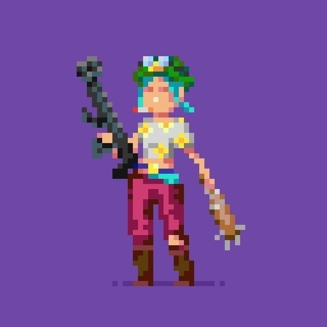 requested friend - tankgirl, pixelart - hivernoir | ello