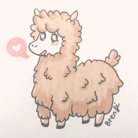Alpaquita - alpaca, markers, cute - brenfi | ello