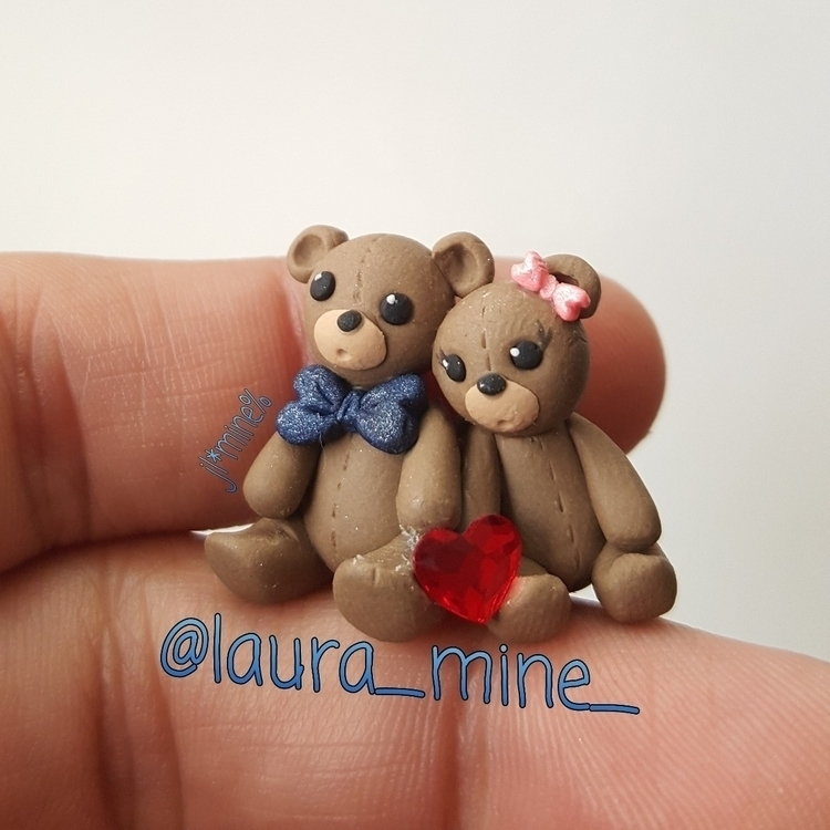 love bears - polymerclay, swarovski - laura_mine | ello