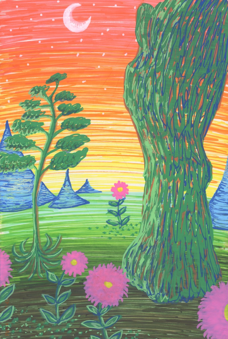 World - acrylicpen, illustration - thehkexperience | ello