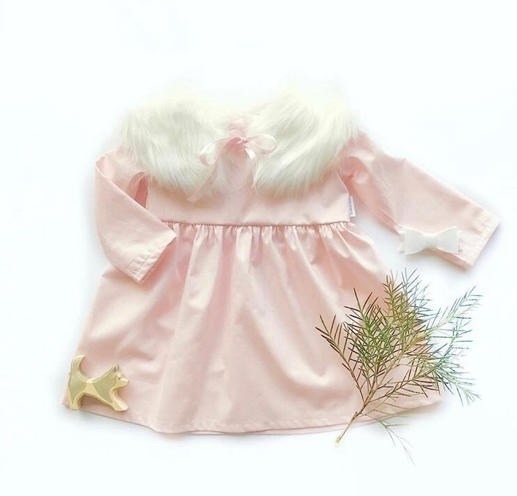 pink 'Tilly' dress, sweet fur c - cocktailkids | ello