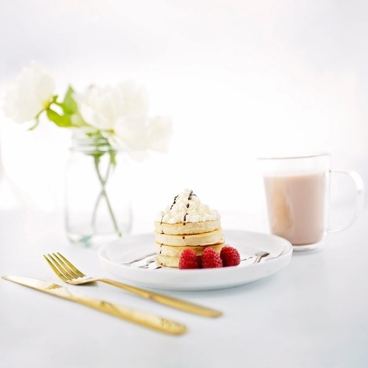 morning feels pancakes hot choc - sandyfbe | ello