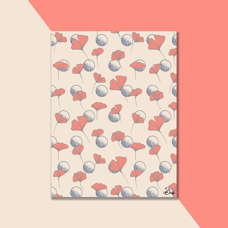 Delicate GinkgoDots botanical s - designdn | ello