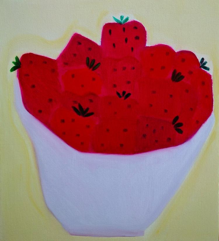 Strawberries oil/canvas/board,  - markbarry | ello