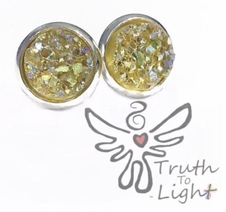 :lemon:Silver Lemon Druzy Earri - truth_to_light | ello
