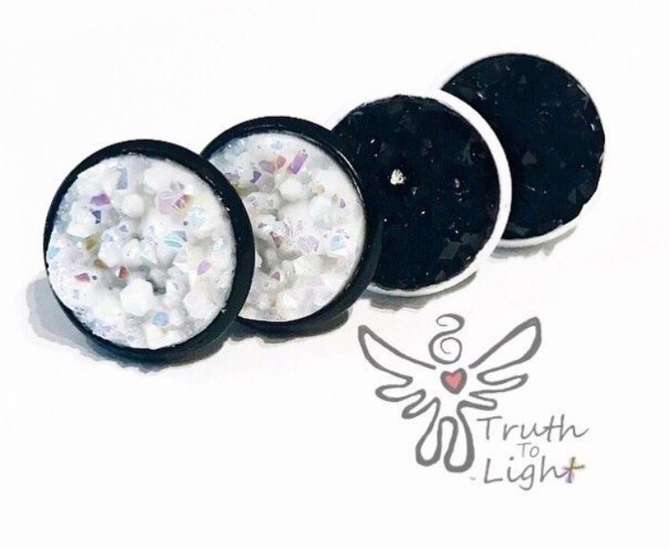 🖤White Black Druzy Earring Set  - truth_to_light | ello