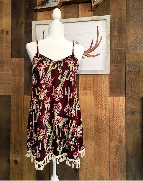 large left - cactus, dress, boutique - redneckheavenboutique | ello