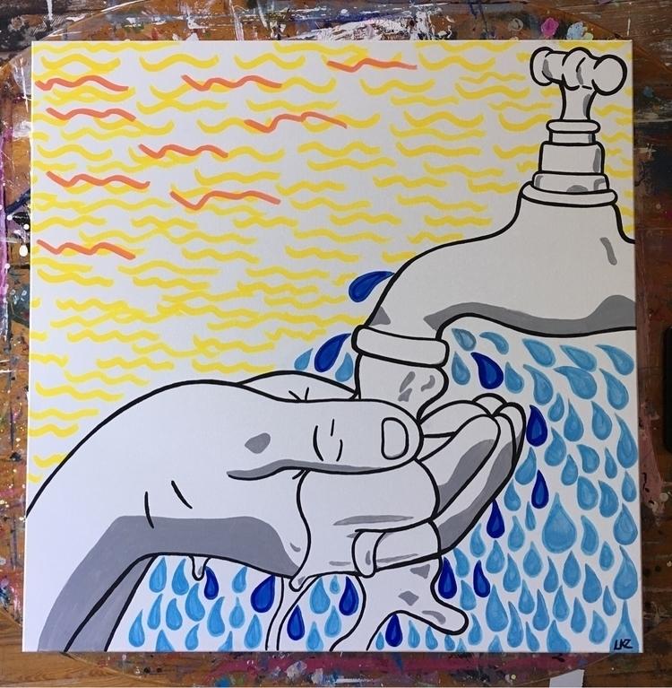 Faucet acrylic 30 canvas 20% pr - lizkellyzook | ello