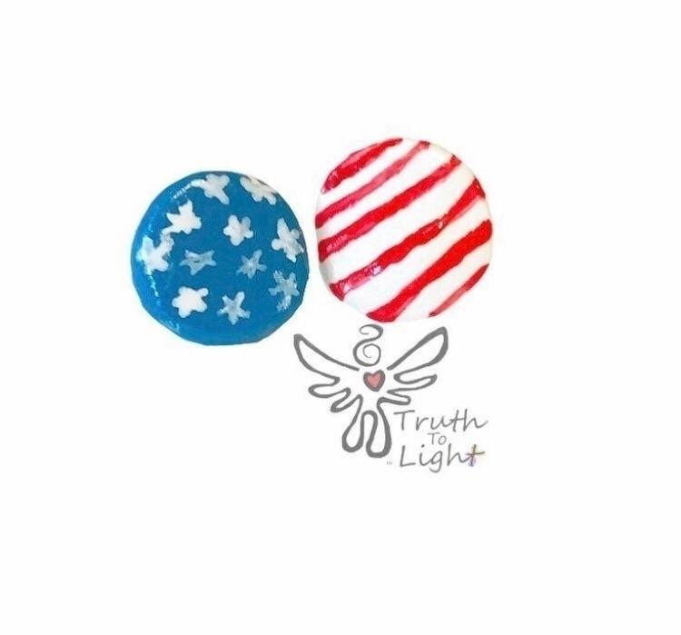 Flag Polymer Clay choice ClipOn - truth_to_light   ello