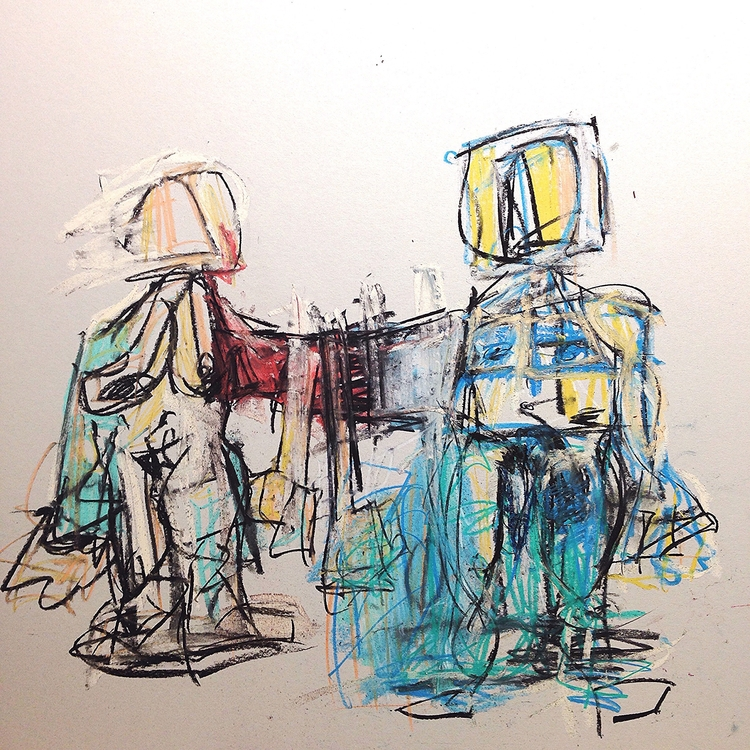 Space Date, 2016 | paint stick - jkalamarz | ello