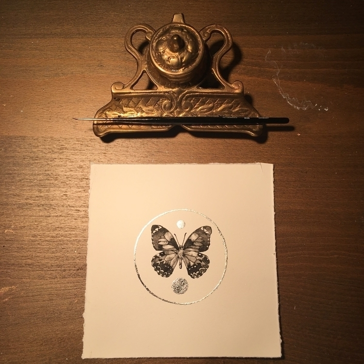 Ink painting silver leaf - gilded - alexakarabin | ello