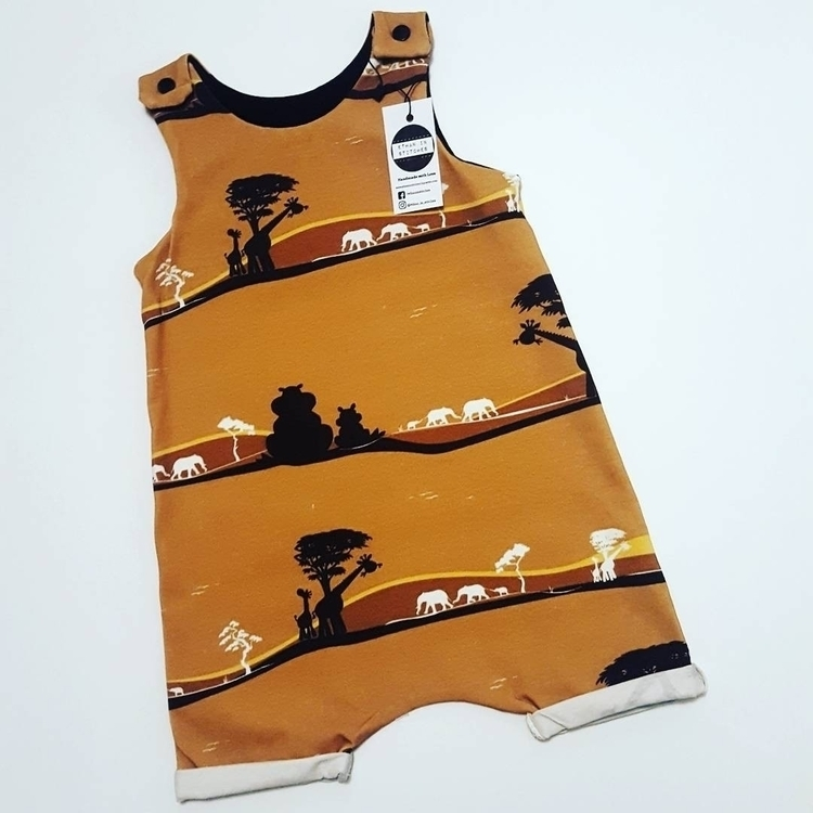 Love safari shortie rompers - Ethaninstitches - ethan_in_stitches | ello