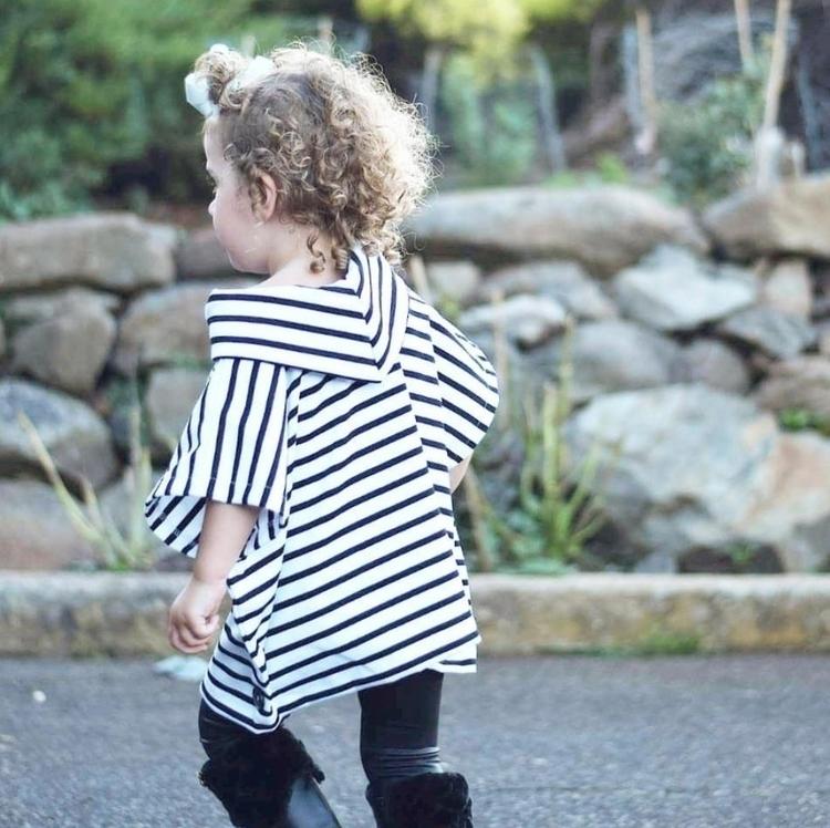 • White black stripes worn styl - willowandmekids | ello