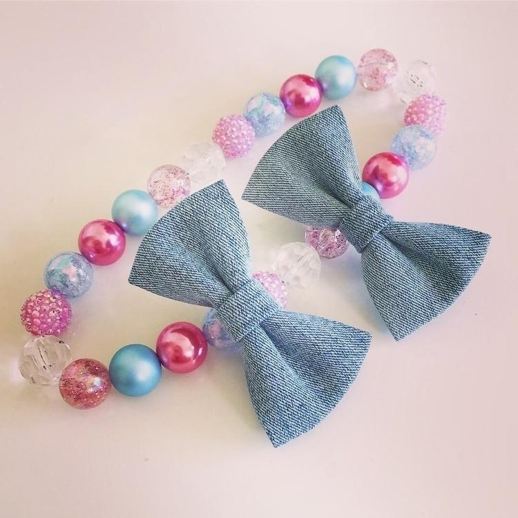 love Denim bows - flosscreations | ello