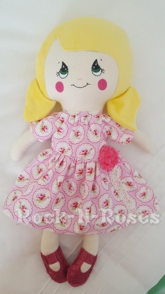 Beautiful Floral Dolly, Custom  - rocknrosesdolls | ello